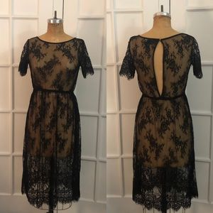 Forever 21 goth witchy stretch lace dress XS